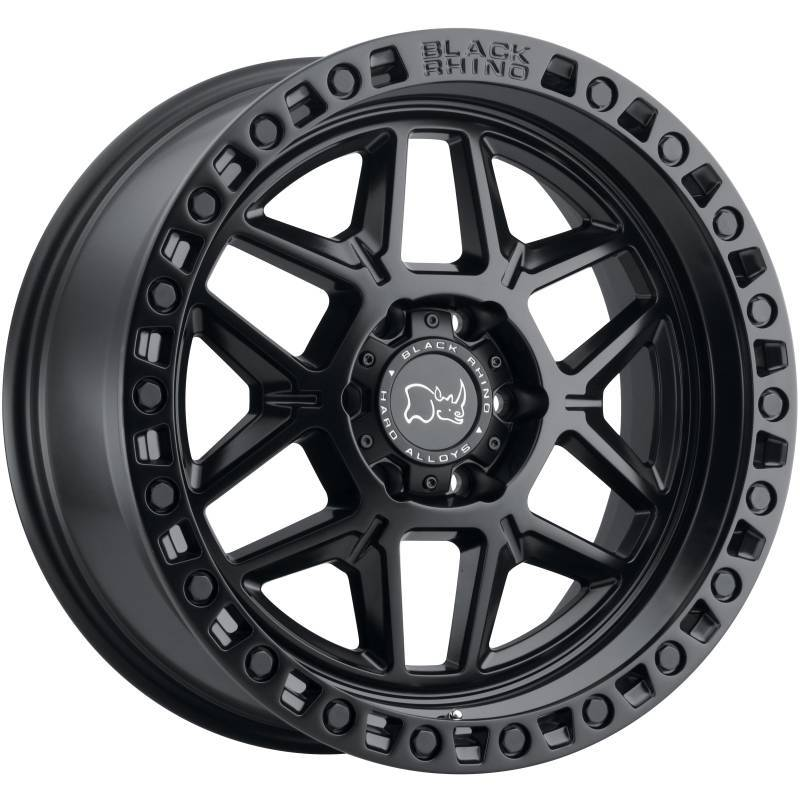 BLACK RHINO KELSO MATTE BLACK TRUCK WHEELS W/ BLACK BOLTS
