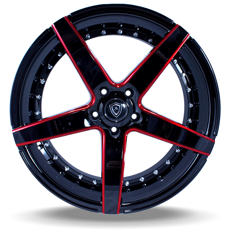 Marquee M3226 Black with Red Milling