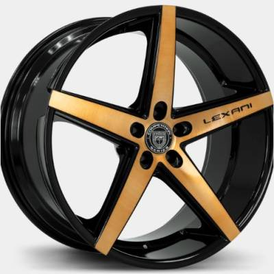 Lexani R-Four Machine Black with Bronze Tint