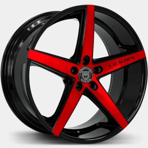 Lexani R-Four Machine Black with Red Tint