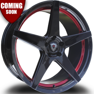 Marquee M1001 Gloss Black with Red Inner Cut