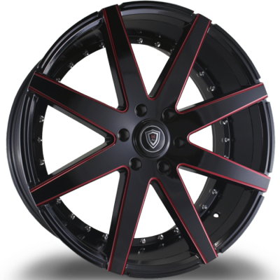 Marquee M3226-B Black with Red Milling