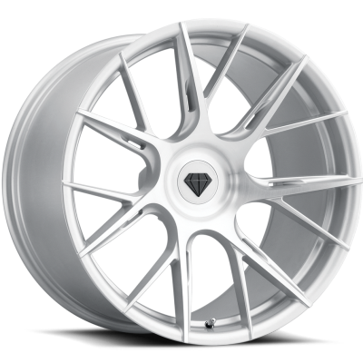 Blaque Diamond BD-F18 Silver Brushed Wheels