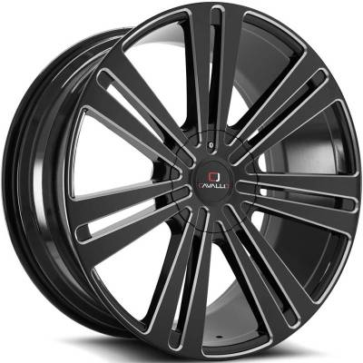Cavallo CLV-16 Black Milled Wheels