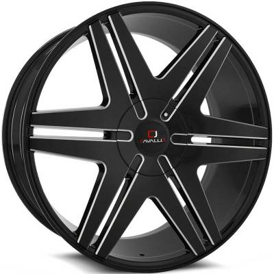 Cavallo CLV-17 Black Milled Wheels