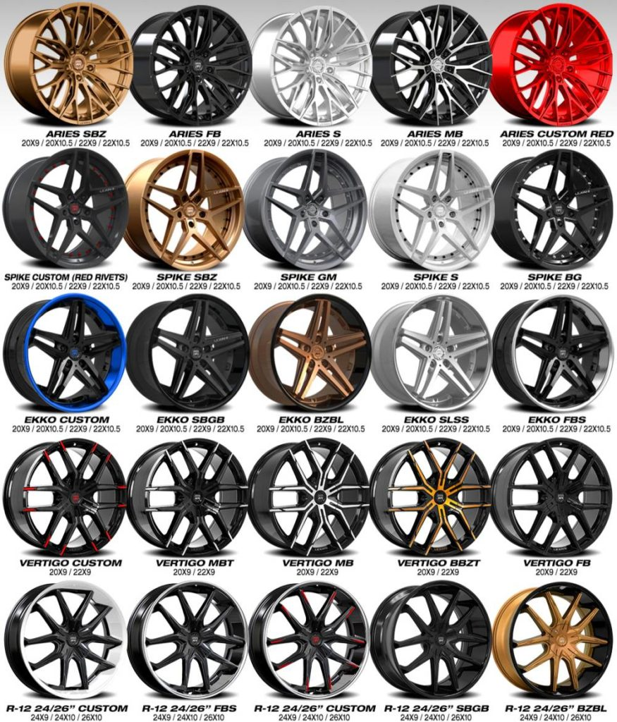 New Lexani 2020 Custom Wheel Styles