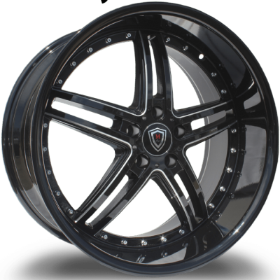 Marquee M.5329 Gloss Black Milled Wheels