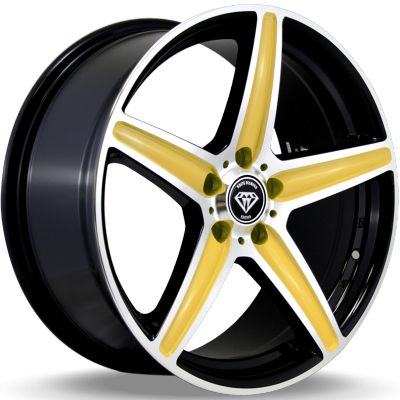 White Diamond W253 Gold Wheels
