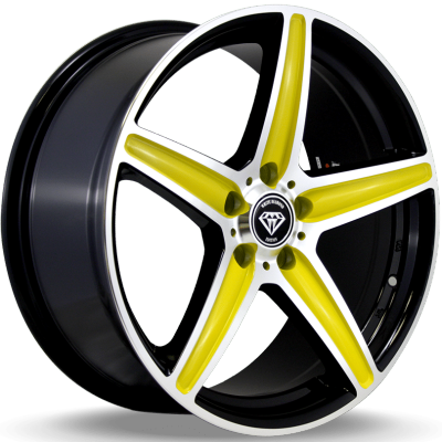 White Diamond W253 Yellow Wheels