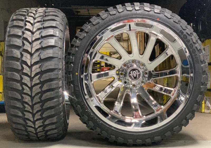 Hardcore HC15 Off-Road Chrome Wheel and Tire Package