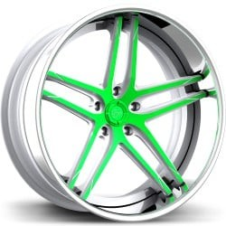 Lexani LC-105 Green and Chrome