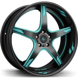 Lexani LS-103 Black and Teal