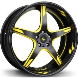 Lexani LS-103 Black and Yellow