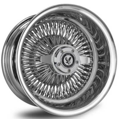 Luxor 100 Spoke Straight Lace Chrome Wire Wheels