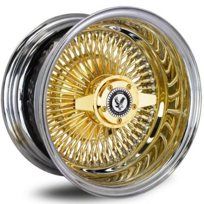 Luxor 100 Spoke Straight Lace Gold Center Wire Wheels