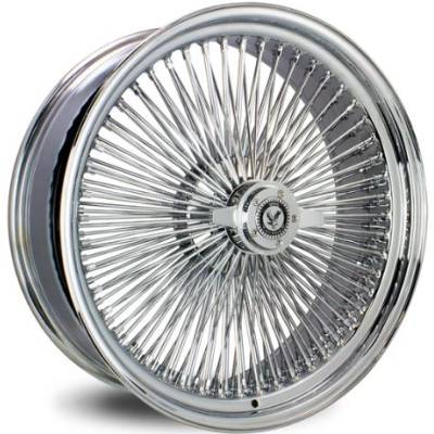 Luxor 150 Spoke Straight Lace Chrome Wire Wheels