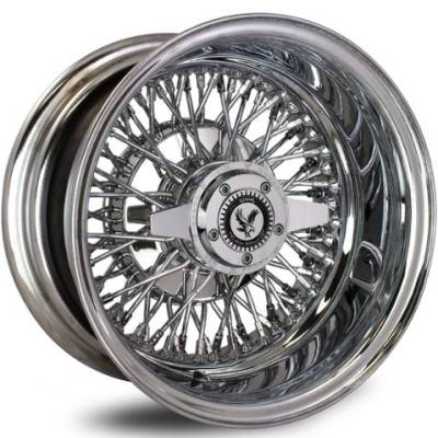 Luxor 72 Spoke Cross Lace Chrome Wire Wheels
