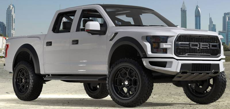 2019 Ford F-150 Raptor on 22x10 4Play 4PF6 Brushed Black Forged Wheels