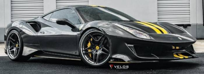 Ferrari 488 GTB Pista on Velos VLS04 Wheels