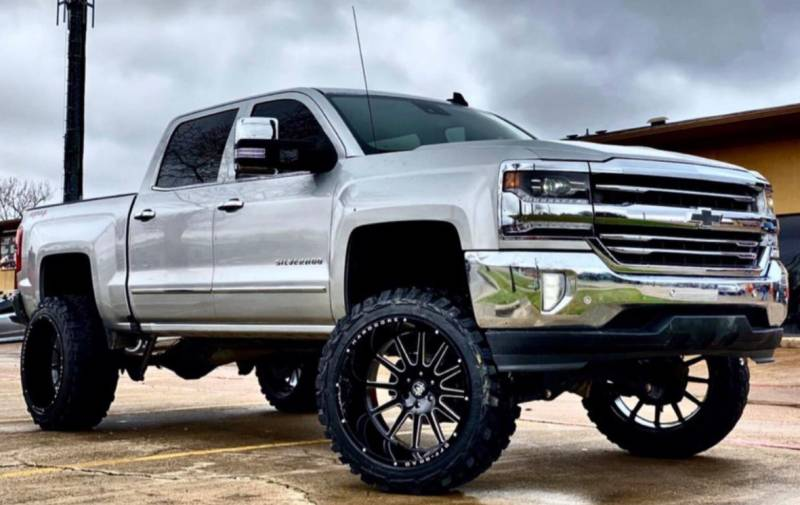 24x14 Hardcore HC13 Gloss Black Milled Wheels for Your Chevy Silverado 1500