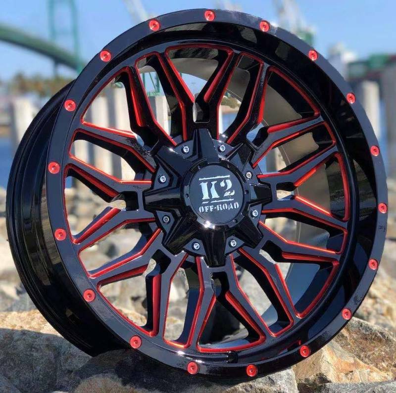 K2 Off-Road K17 Black with Red Milling