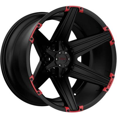 Tuff A.T. T12 Satin Black with Red Inserts