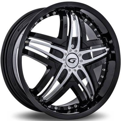 Diablo Wheels Blitz Black with Chrome Inserts