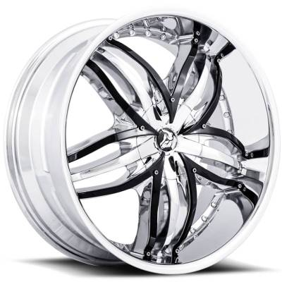 Diablo Wheels Angel Chrome with Black Inserts