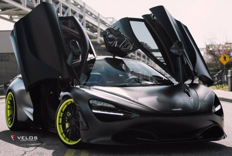 Mclaren 720s on Velos VXS15 3-PC Forged with Floating Spokes