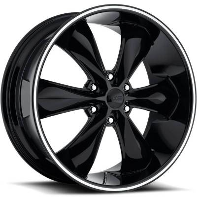 Foose Legend 6 F138 Black with Machined Ring