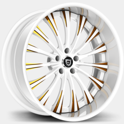 Lexani LF-763 White with Gold Accents
