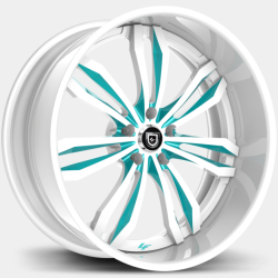 Lexani LF-763 White and Teal