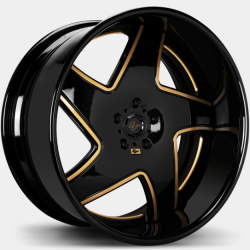 Lexani LF-768 Dawn Black with Gold Accents