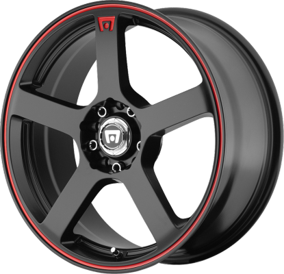 Motegi Racing MR116 Satin Black with Red Stirpe