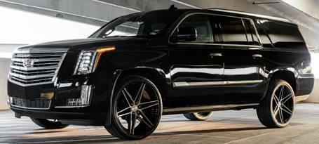 Cadillac Escalade on Ferrada FT4 Machine Black Wheels