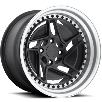 Rotiform CHD-T Matte Black with Silver Hoop
