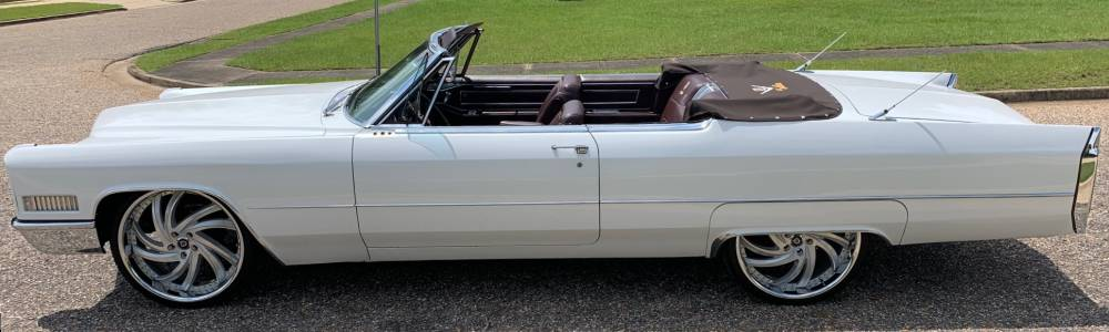 1964 Cadillac DeVille on 24x9 Lexani Twister Silver with Chrome Lips, 255/30R24