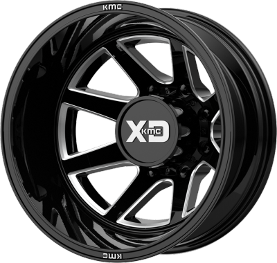XD845 Pike Gloss Black Milled Rear Dually