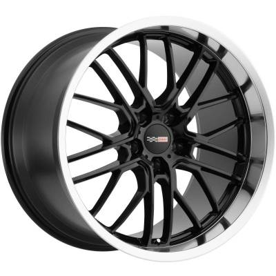 Cray Eagle Corvette Wheels Gloss Black with Machine Lip
