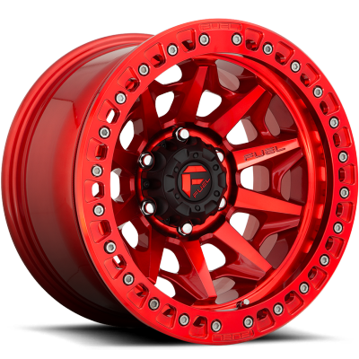Fuel Covert D113 Candy Red with Beadlock