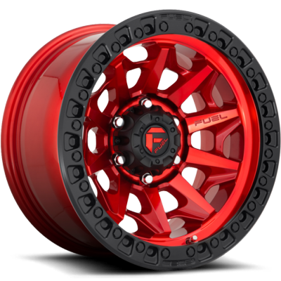 Fuel Covert D695 Candy Red with Black Ring