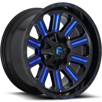 Fuel Hardline D646 Gloss Black with Candy Blue Milling