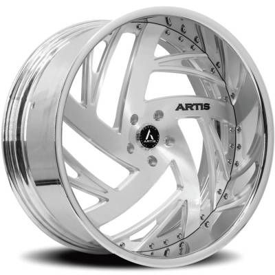 Artis Southside Brushed Center with Chrome Lip