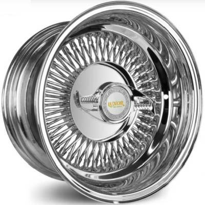 Luxor 80-Spoke Chrome Bolt-On with Knock-Off