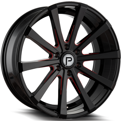 Pinnacle P100 Royalty Gloss Black with Red Milling