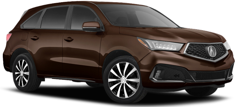 2020 Acura MDX AWD on Touren TR3 Black Machined Wheels