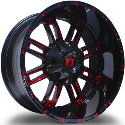 Full Throttle FT8033 Black with Red Milling
