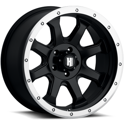 Havok Off-Road H105 Matte Black with Machined Edge