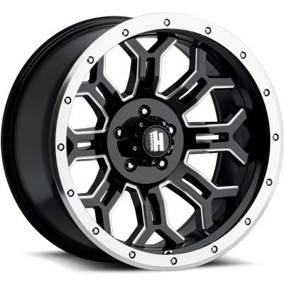 Havok Off-Road H108 Black Milled with Machined Bead Lock