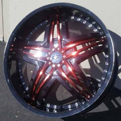 Diablo Blitz Gloss Black with Red Anodized Inserts